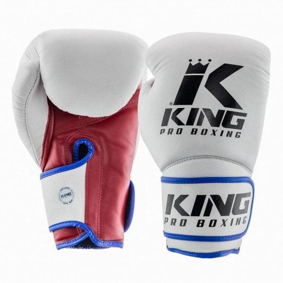 King (kick)bokshandschoenen kpb/bg star 1 wit/rood