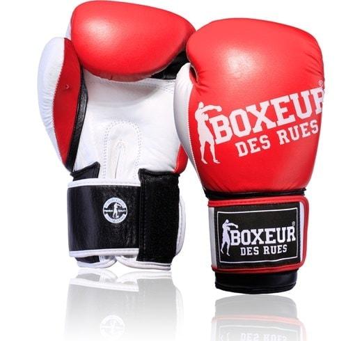 Boxeur des rues impact logo (kick)bokshandschoenen rood