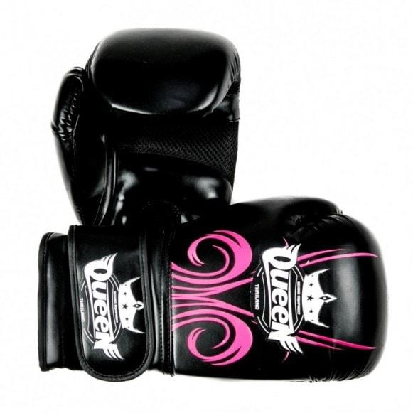 Queen (kick)bokshandschoenen fantasy 3 zwart/roze