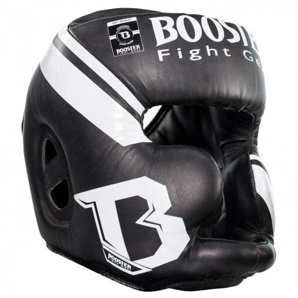 Zwart witte hoofdbeschermer van Booster.