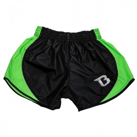 Zwart groen retro hybrid thai- en kickboks broekje van Booster.