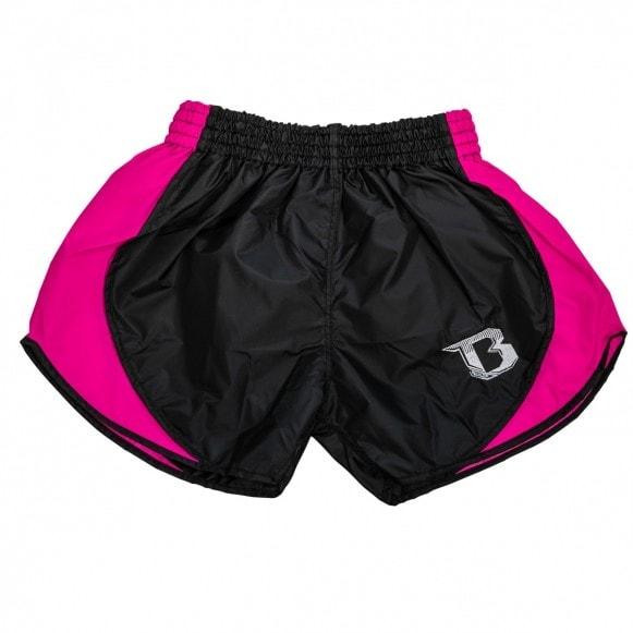Zwart roze retro hybrid thai- en kickboks broekje van Booster.