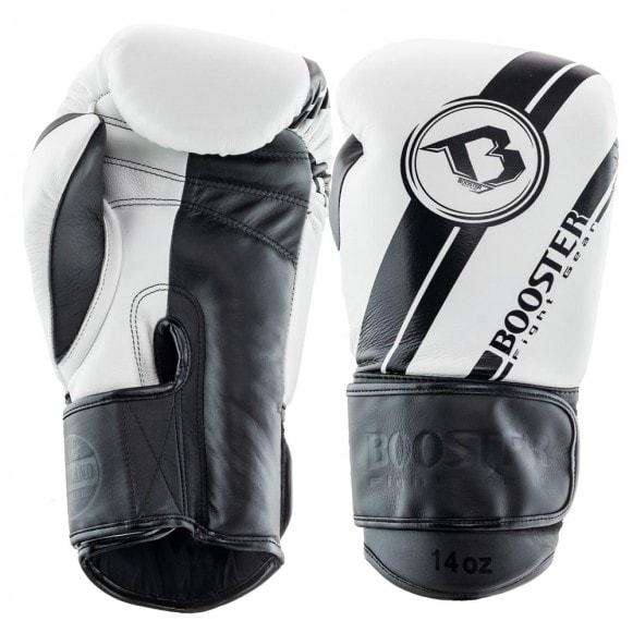 Wit zwarte kickbokshandschoenen van Booster bgl v3.