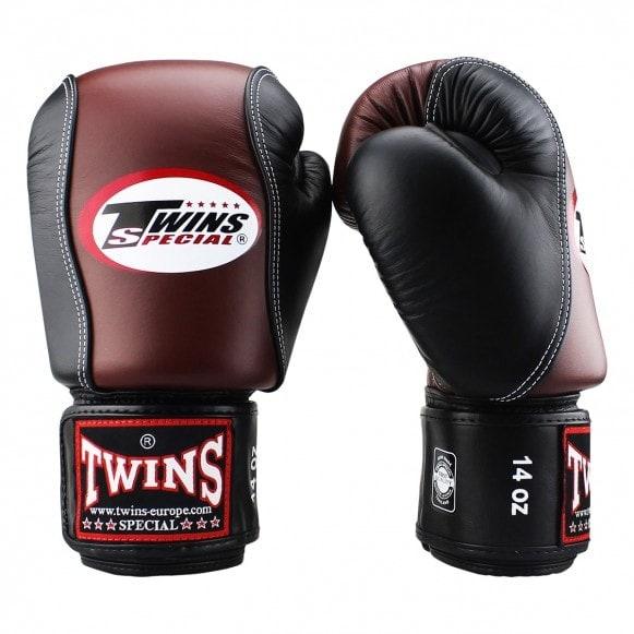Kickbokshandschoenen van Twins, de BGVL 7 in de kleuren retro met zwart.