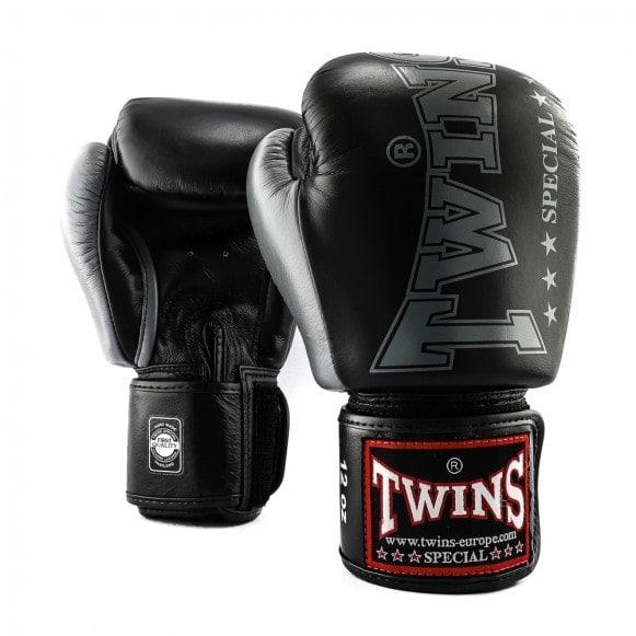 Zwarte Twins kickbokshandschoenen, de BGVL 8.