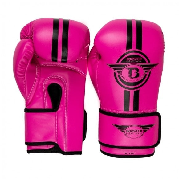 Roze Booster kickbokshandschoenen, de BG Youth Elite 2.