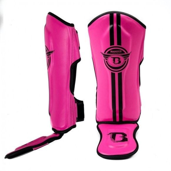 Roze scheenbeschermers van Booster, de SG Youth ELite 2.