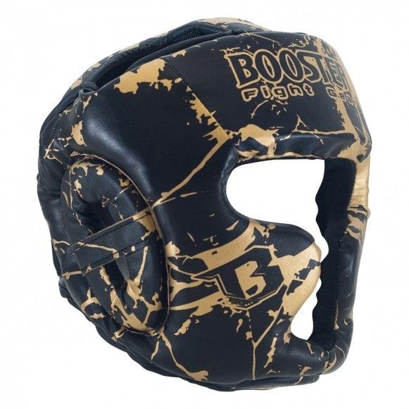 Zwart gouden hoofdbeschermer van Booster, HGL B 2 youth Marble Gold.