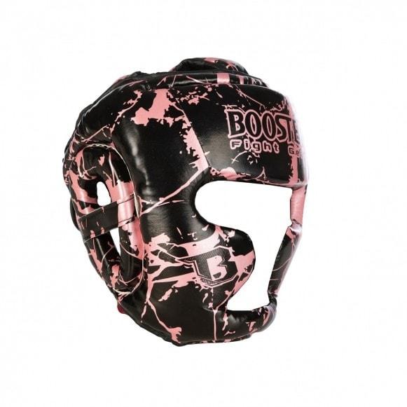Zwart roze hoofdbeschermer van Booster, de HGL B 2 Youth Marble pink.