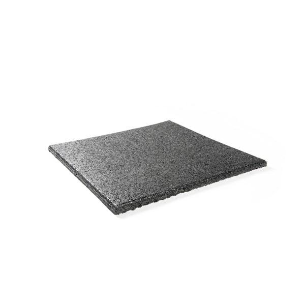 Rubberen fitness mat, 100 x 100 cm.